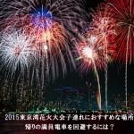 東京湾花火大会2015子連れにおすすめな場所|帰りの満員電車を回避するには